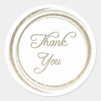 Obrigado dos círculos do brilho você etiqueta adesivo