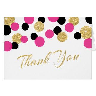 Obrigado dos confetes | do brilho Sparkling você Cartão De Nota