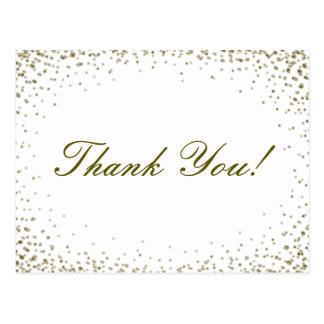 Obrigado dos confetes do brilho você cartão cartão postal