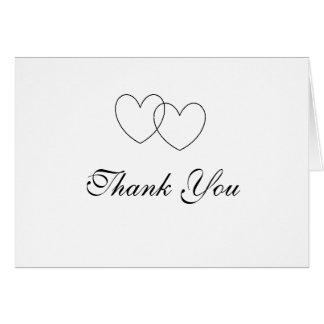 """""""Obrigado dos corações de bloqueio"""" você cartões"""