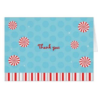 Obrigado dos doces de Peppermint do inverno você Cartão Comemorativo