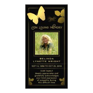 Obrigado dourado da borboleta você cartão de