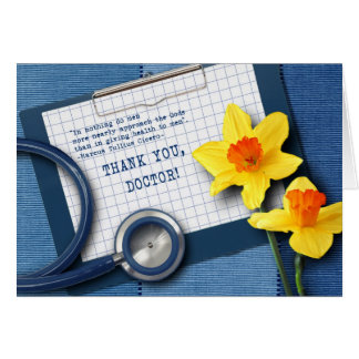 Obrigado, doutor. Cartões do Dia dos doutores