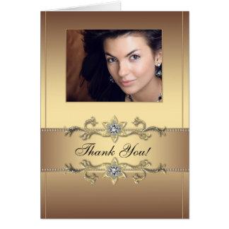 Obrigado elegante da foto do ouro você cartões