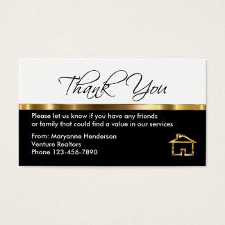 Obrigado elegante da referência você cartões