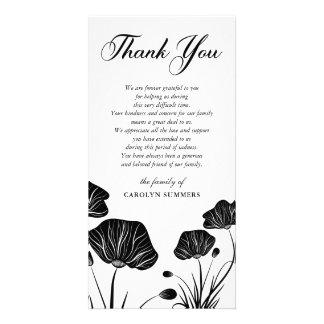 Obrigado elegante da simpatia das papoilas | você cartão