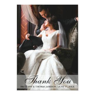 Obrigado elegante do casamento você cartão com