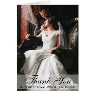 Obrigado elegante do casamento você cartão de