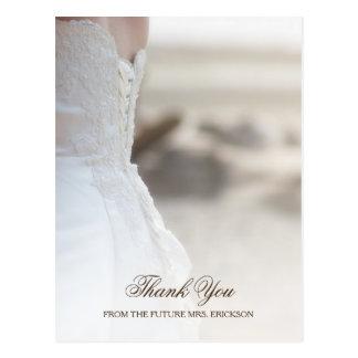 Obrigado elegante do chá de panela do vestido de cartão postal
