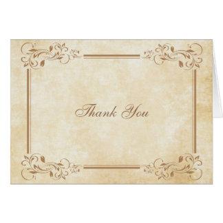 Obrigado elegante do pergaminho do vintage você cartão de nota