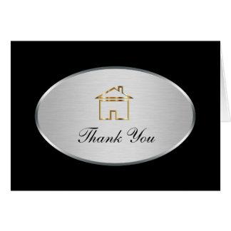 Obrigado elegante dos bens imobiliários você cartõ cartão de nota