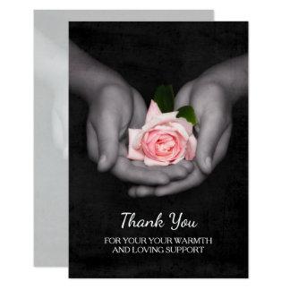 Obrigado elegante você para o rosa do rosa do convite 8.89 x 12.7cm