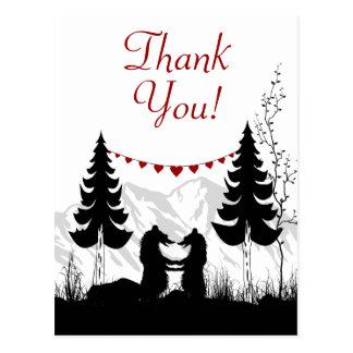 Obrigado encantador dos ursos da montanha da cartão postal