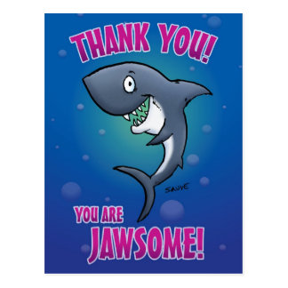 Obrigado engraçado do tubarão você cartão