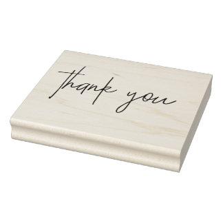 Obrigado escrito à mão carimbo de borracha