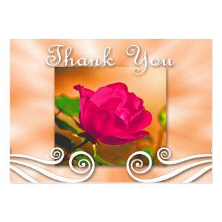 Obrigado escuro do rosa do rosa você cartão de vis cartoes de visitas