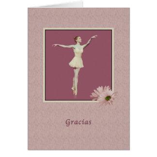 Obrigado, espanhol, Gracias, bailarina em Pointe Cartões