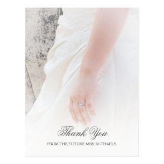 Obrigado etéreo do chá de panela da foto da mão cartão postal