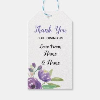 Obrigado etiqueta a flor roxa Wedding floral