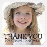Obrigado etiqueta da foto para o partido dos miúdo adesivo