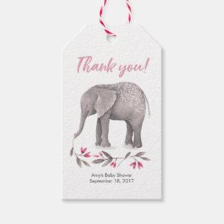 Obrigado etiqueta o elefante cor-de-rosa dos Tag |