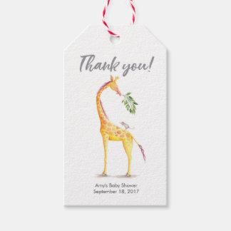 Obrigado etiqueta o girafa dos Tag | do favor de |