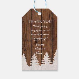 Obrigado etiquetar o casamento no inverno de
