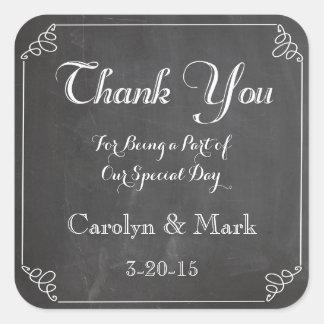 Obrigado, etiquetas do favor do casamento vintage