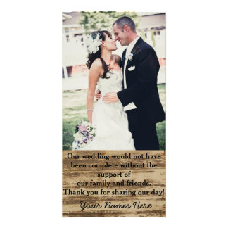 Obrigado feito sob encomenda da foto do casamento cartão