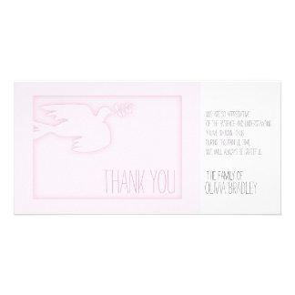 Obrigado feito sob encomenda da simpatia do bebê cartão com foto