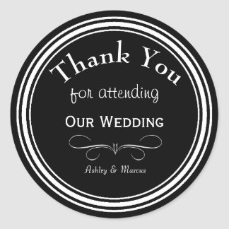 Obrigado feito sob encomenda do casamento você adesivo