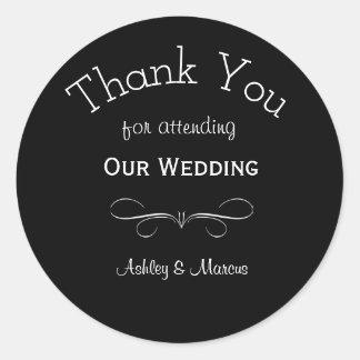 Obrigado feito sob encomenda do casamento você adesivo redondo