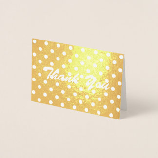 obrigado feminino minimalista das bolinhas você cartão metalizado