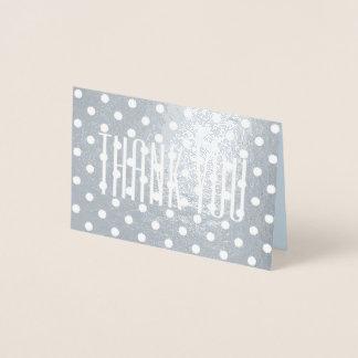 obrigado feminino minimalista retro lustroso das cartão metalizado