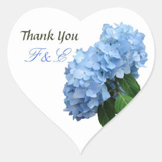 Obrigado floral azul do casamento você etiqueta