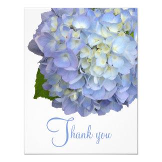 Obrigado floral azul você anula cartões lisos