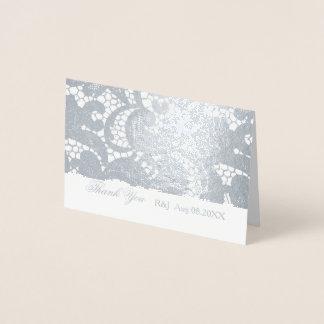 Obrigado floral boémio do casamento do laço você cartão metalizado