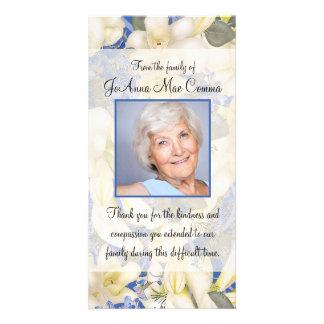 Obrigado floral da simpatia da foto você com cartão
