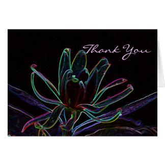 Obrigado floral de Edgey você Cartão Comemorativo
