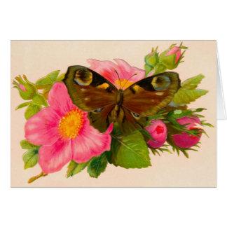 Obrigado floral do casamento do vintage você cartõ cartão de nota