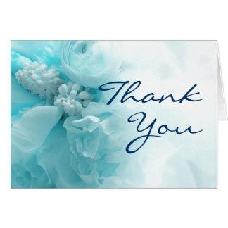 Obrigado floral do casamento você cartões