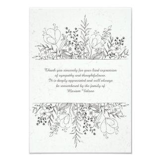 Obrigado floral do falecimento da relembrança você convite 8.89 x 12.7cm