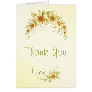Obrigado floral do primavera ocasional você cartão