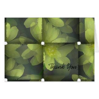 Obrigado floral moderno você cartoes