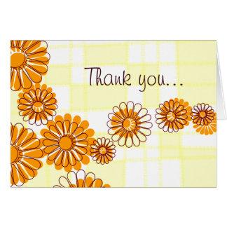 Obrigado floral você cartão de nota