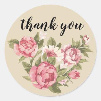 obrigado floral você etiqueta - personalize o
