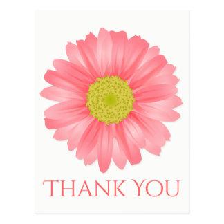 Obrigado floral você flor do rosa da margarida do cartão postal