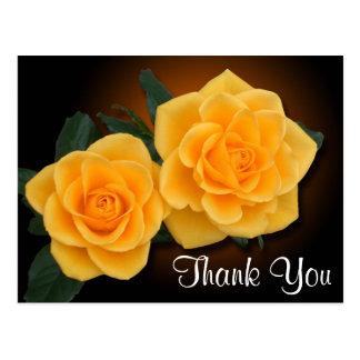 Obrigado floral você flores do rosa amarelo cartão postal