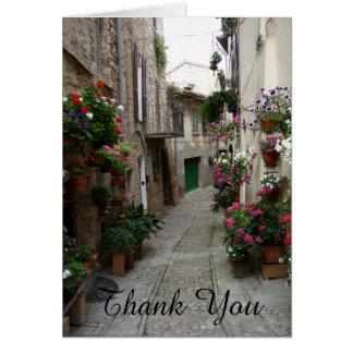 Obrigado floresce o cartão italiano do Sidestreet