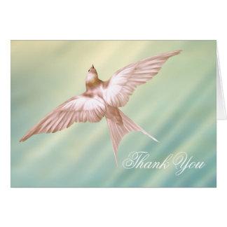 Obrigado fúnebre da pomba elegante você cartões